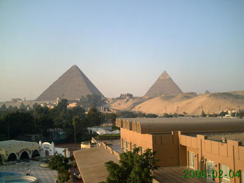 Gizah Pyramids - Photo by unknown